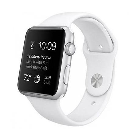 Apple Watch 42mm Silver W/ White Sport Band (PJ2)